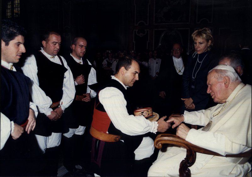 Udienza Papale 13 Dicembre 2001. Concerto di Natale in Vaticano