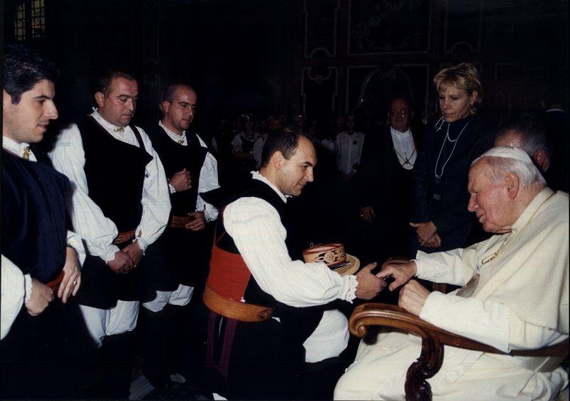 Udienza Papale 13 Dicembre 2001. Concerto di Natale in Vaticano