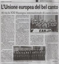 Tenores di bitti al xxi festival corale di savigliano for Camera deputati rassegna stampa